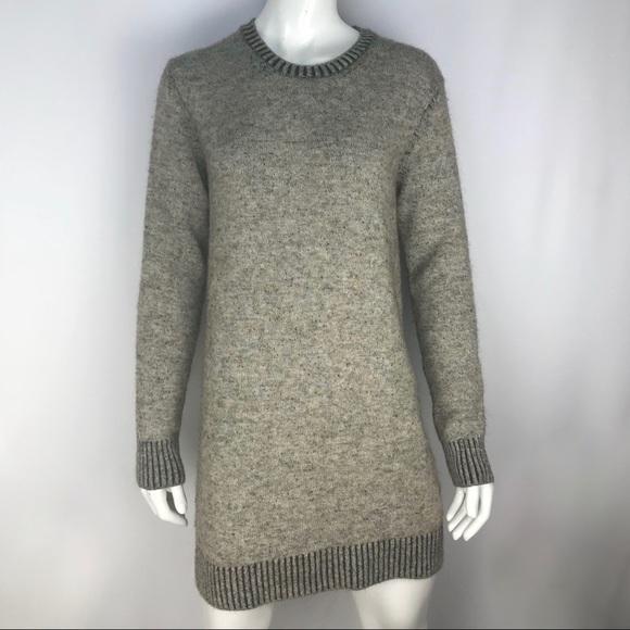 Zara Dresses & Skirts - Zara Knit Grey Speckle Mini Sweater Dress